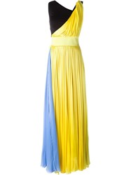 Fausto Puglisi Block Colour Gown Yellow And Orange