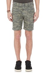 Barneys New York Men's Digital Camouflage Print Shorts Dark Green