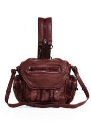 Alexander Wang Marti Mini Convertible Leather Backpack Beet