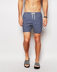 New Look Cut And Sew Stripe Swim Shorts Navy