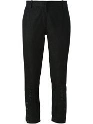 Ann Demeulemeester 'Angel' Cropped Trousers Black