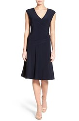 Women's Nic Zoe Matte Jersey Faux Wrap Fit And Flare Dress