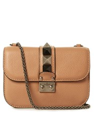Valentino Rockstud Quilted Leather Cross Body Bag Nude
