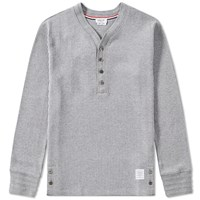 Thom Browne Long Sleeve Jersey Henley Grey