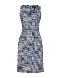 Derek Lam Short Dresses Dark Blue