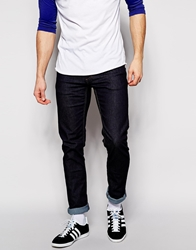 Sisley Raw Jeans In Super Skinny Fit Navy932