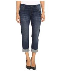 Kut From The Kloth Petite Catherine Boyfriend Jeans In Carefulness Carefulness Women's Jeans Blue