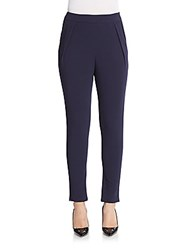 Saks Fifth Avenue Red Textured Knit Pants Navy