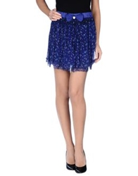 Scee By Twin Set Mini Skirts Bright Blue