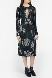 Erdem Chrissy Jacaquard Dress Black