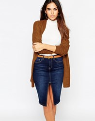 Warehouse Belted Cardigan Rust