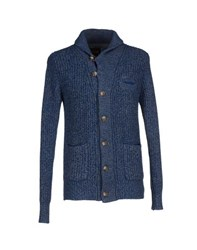 Sun 68 Knitwear Cardigans Men Blue