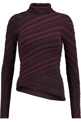 Peter Pilotto Stretch Jacquard Turtleneck Top Red