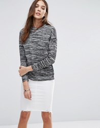 Daisy Street Marl Long Sleeve Top Grey