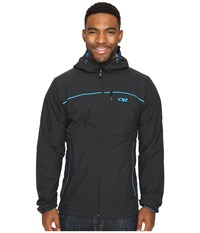 Outdoor Research Razoredge Hooded Jacket Black Tahoe Men's Coat Black Tahoe