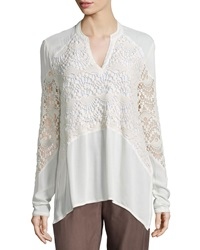 Xcvi Nia Crochet Inset Top Women's