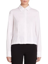 Yigal Azrouel Pleated Back Button Front Shirt White