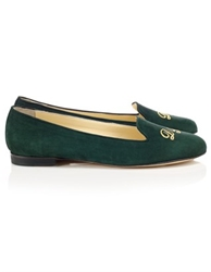 Bottle Green Suede Helene Loafers Schoshoes Avenue32