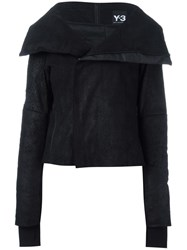 Y 3 Wide Lapel Zipped Jacket Black