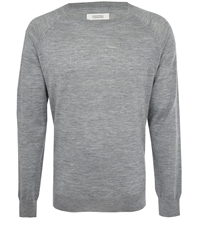 Uniforms For The Dedicated Grey Perforated Knit Jumper