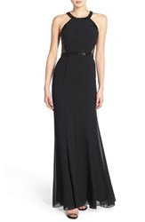Women's A. Drea Embellished High Neck Gown