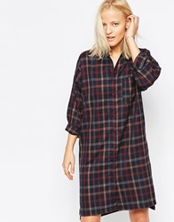 Native Youth Longline Twill Check Shirt Multi