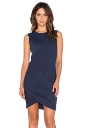 Stateside Crossover Ruched Mini Dress Navy