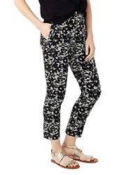 Phase Eight Elise Lace Print Trousers Black Ivory
