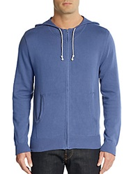 Saks Fifth Avenue Zip Drawstring Hoodie Jasmine