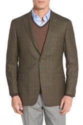 Hart Schaffner Marx 'New York' Classic Fit Plaid Wool Sport Coat Green
