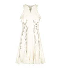 Alexander Wang Tweed Piercing Dress Female Ivory