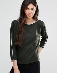Lavand Green Boatneck Top G Green