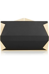 Roland Mouret Palais Royale Embellished Leather Box Clutch
