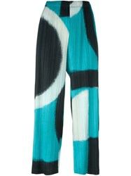 Issey Miyake Pleats Please By Abstract Pattern Cropped Trousers