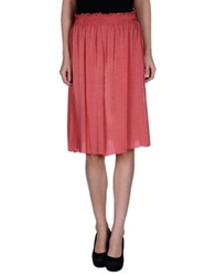 Almeria Knee Length Skirts Coral