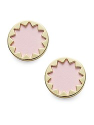 House Of Harlow Exclusive Leather Sunburst Button Earrings Nude