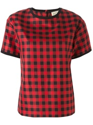 Fausto Puglisi Checked T Shirt Red