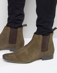 Frank Wright Chelsea Boots In Brown Leather Brown