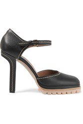 Marni Leather Mary Jane Pumps Black