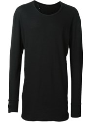 11 By Boris Bidjan Saberi 'Perforated 11' Top Black
