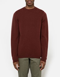 Norse Projects Sigfred Lambswool Sweater Red Clay
