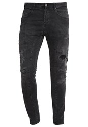 Replay Brannon Slim Fit Jeans Black Denim Destroyed Denim