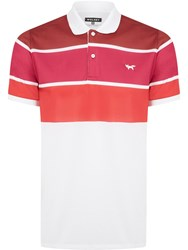 Wolsey Three Colour Stripe Polo Red