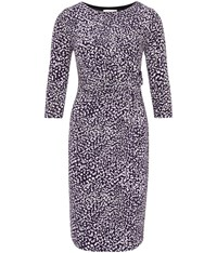 Austin Reed Purple And Lilac Dash Print Dress