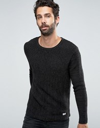 Only And Sons Ribbed Knitted Jumper Black