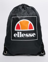 Ellesse Drawstring Backpack Black