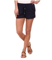 Alternative Apparel Rayon Twill Shorts Midnight Women's Shorts Navy