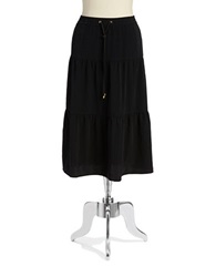 Jones New York Tiered Skirt Black