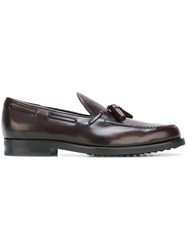 Tod's Tassel Boat Shoes Brown