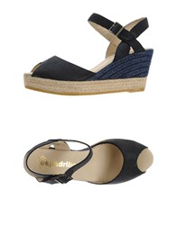 Espadrilles Footwear Sandals Women Dark Blue